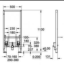 Cadru metalic universal pentru instalare bideu1