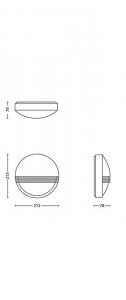 Aplica perete exterior Yarrow culoare neagra, 1x6W LED Philips [2]