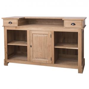 Bar living din lemn masiv cu o usa si 2 sertare1