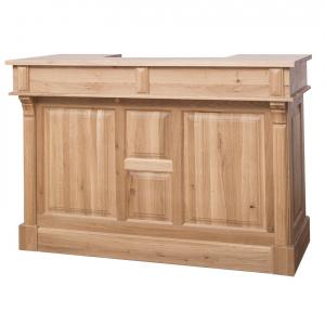 Bar living din lemn masiv cu o usa si 2 sertare0