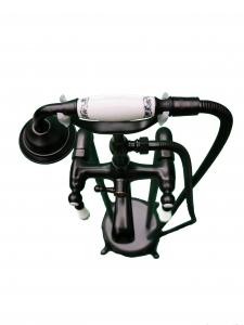 Baterie cada freestanding negru petrol, Diana Foglia [2]
