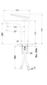 Baterie lavoar crom, Atrio Foglia1