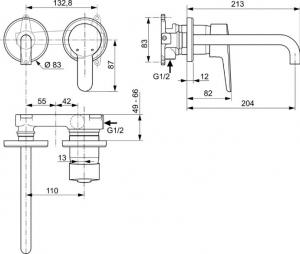 Baterie lavoar incastrata Ideal Standard [1]