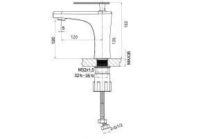 Baterie lavoar crom, Genius Foglia [1]
