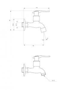 Robinet cismea gradina pentru apa rece Deante cu aerator si adaptor [3]
