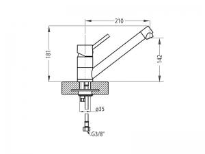 Baterie pentru chiuveta bucatarie, Alveus AM 110 [1]