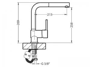 Baterie chiuveta bucatarie alama, Alveus Azeta P [1]