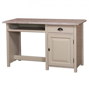 Birou clasic din lemn masiv cu un sertar si o usa0