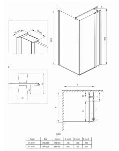 Cabina dus patrata 80x 80 cm crom Deante, Cubic2
