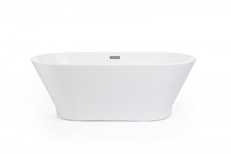 Cada baie freestanding ovala 170x80 cm cu preaplin Fibrex, OSLO [1]