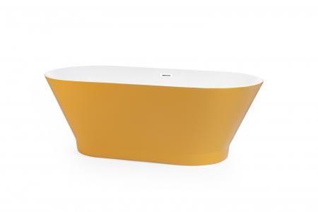 Cada baie freestanding ovala 170x80 cm cu preaplin Fibrex, OSLO [5]