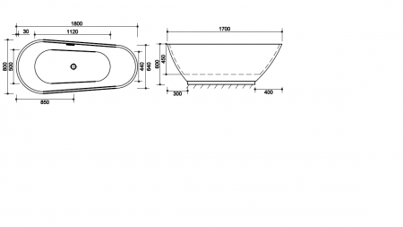 Cada baie freestanding Ovale Foglia [2]