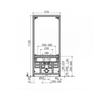 Cadru metalic instalare bideu Alcaplast [1]