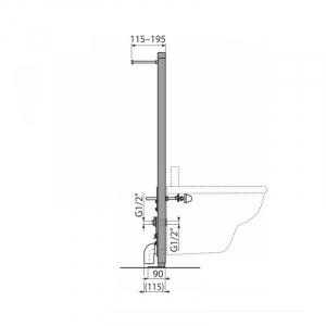 Cadru metalic instalare bideu Alcaplast [2]