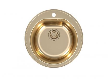 Chiuveta bucatarie inox rotunda culoare bronz, Alveus Monarch Form 300