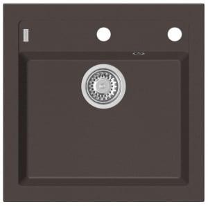 Chiuveta bucatarie compozit chocolate metalizat, Alveus Formic 200