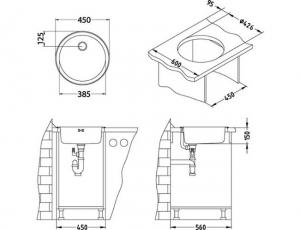 Chiuveta bucatarie rotunda, Alveus Form 101