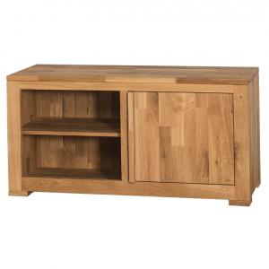 Comoda TV lemn stejar cu o usa0
