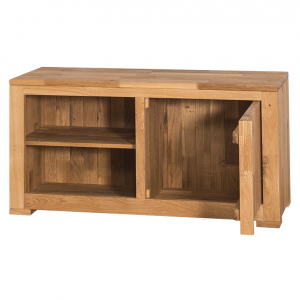 Comoda TV lemn stejar cu o usa1