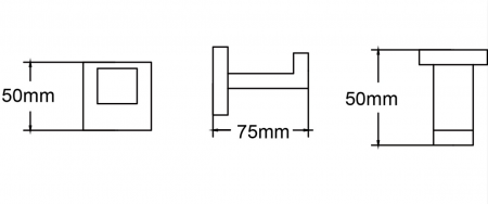 Cuier prosop baie negru Square N [1]