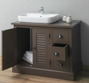 Dulap baie din lemn masiv cu 2 usi si 3 sertare Shutter1