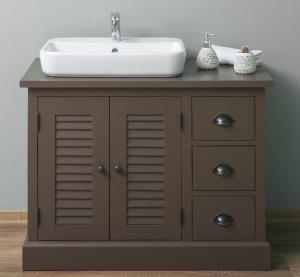 Dulap baie din lemn masiv cu 2 usi si 3 sertare Shutter0