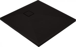 Cadita dus compozit slim patrata neagra 90x 90 cm Deante, Correo Square, Negru