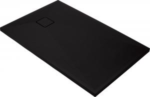 Cadita dus compozit slim dreptunghiulara neagra Deante, Correo, 1000x800 mm, Negru