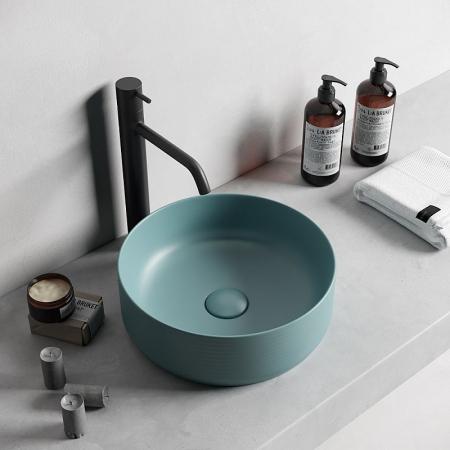 Lavoar baie rotund pe blat culoare maron Dalet, Color [1]