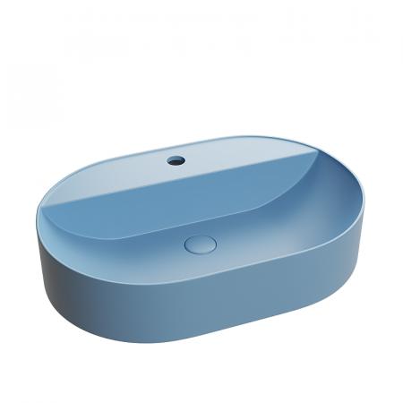 Lavoar baie pe blat bleu cu ventil inclus Dalet, Color