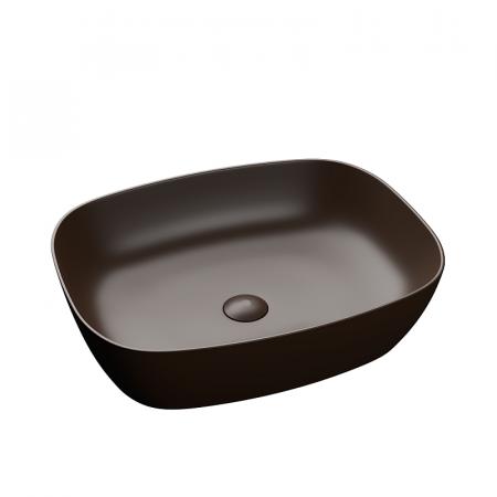 Lavoar baie dreptunghiular pe blat negru lucios cu ventil inclus Dalet, Color [0]