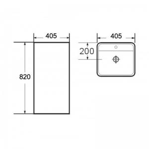 Lavoar freestanding patrat Corso Foglia1