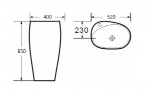 Lavoar freestanding oval Cocon Foglia [4]