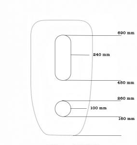 Lavoar freestanding oval Foglia2