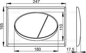 Clapeta rezervor wc alba Alcaplast, M70 [1]