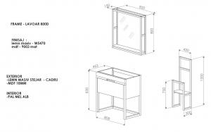 Mobilier baie alb din lemn masiv3