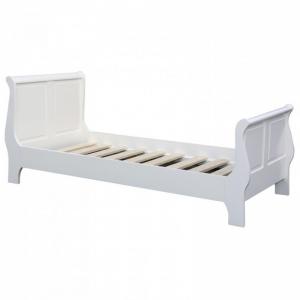 Pat dormitor lemn masiv alb, July0