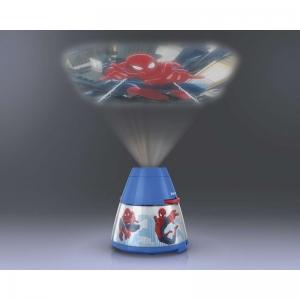 Proiector și lampă de veghe 2 în 1, Spiderman 3xLED/0,1W si 0,3W, IP202