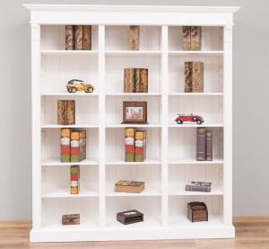 Biblioteca living lemn masiv, finisaj vopsit0