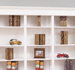 Biblioteca living lemn masiv, finisaj vopsit3