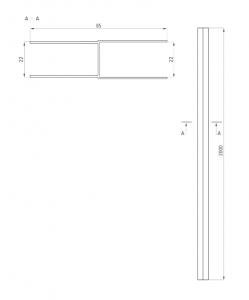 Profil extensie cabina dus culoare crom Deante1