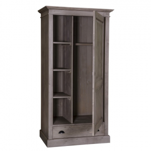 Sifonier din lemn masiv cu o usa si un sertar1