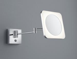 Aplica perete baie culoare crom cu oglinda si lupa [2]