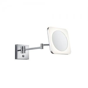 Aplica perete baie culoare crom cu oglinda si lupa [0]