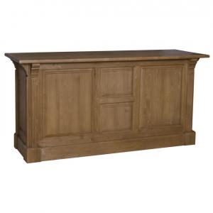 Tejghea bar din lemn masiv cu 2 usi si 3 sertare0
