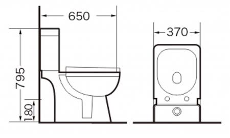 Vas wc Cimberly duobloc cu capac slim Soft Close inclus [8]