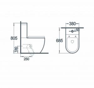 Vas wc Rondo duobloc cu capac soft close inclus1