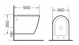 Vas wc suspendat cu capac soft close inclus, Rondo [1]