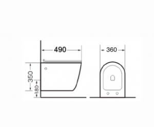 Vas wc suspendat Dalet Thebe cu capac soft close inclus [1]