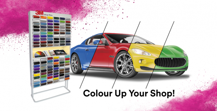 3M Colourboard Wrap Film Display 0